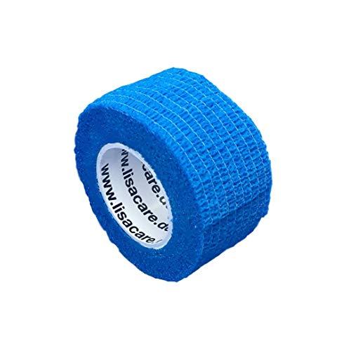 Pflasterverband, Wundpflaster, Kinderpflaster, Tierpflaster, elastisch & ohne Kleber, 2,5cm breit (2er Packung, Blau)