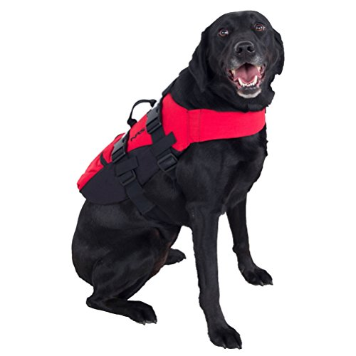 NRS CFD Dog Life Jacket, Red, XL, 40023.01.103