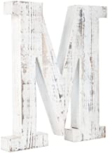 Distressed White Alphabet Wall Décor/Free Standing Monogram Letter M