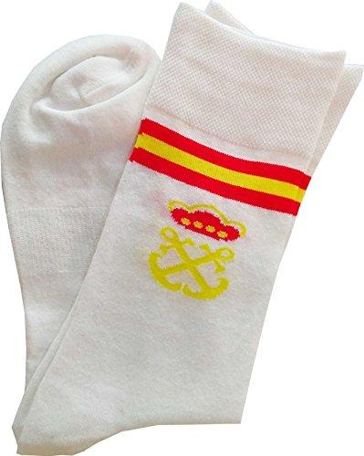 Calcetín Corto Bandera España Costalero (3 Pares) (Blanco