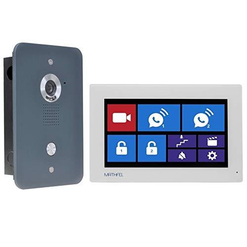 4 Draht Video Türsprechanlage Gegensprechanlage 7'' Monitor, Außenstation in Anthrazit mit oder ohne WLAN Schnittstelle, Farbe: Ohne, Größe: 1x7'' Monitor