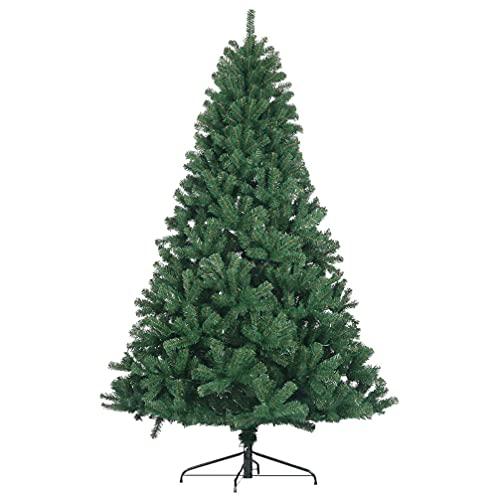 CLISPEED Árvore de Natal 7. 38Ft/ 2. 25M Dicas Naturais Ramos Da Árvore de Natal Árvore de Natal Verde Árvore Artificial Com Suporte De Metal