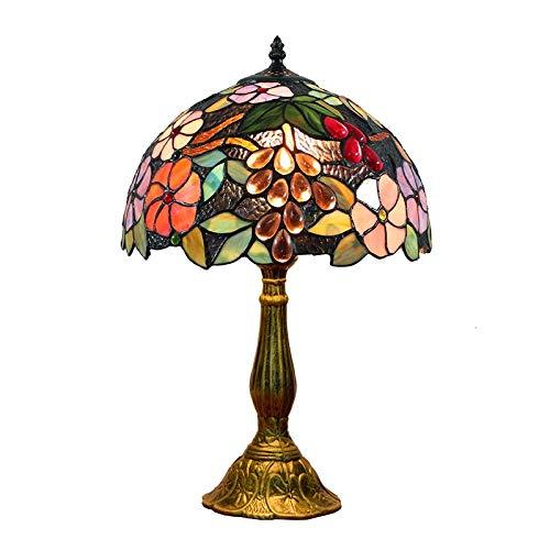 ODIFFTY Blivuself 12 Pulgadas del vitral de Tiffany lámpara de Mesa Creativa Europea del vitral de la Sala de Estar Comedor Dormitorio lámpara de Escritorio de Noche lámpara de Mesa Bar Jardín