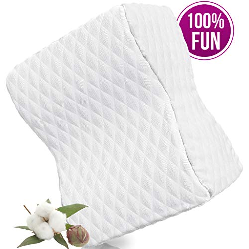 GRASSVERY Memory Foam Knee Pillow for Side Sleepers