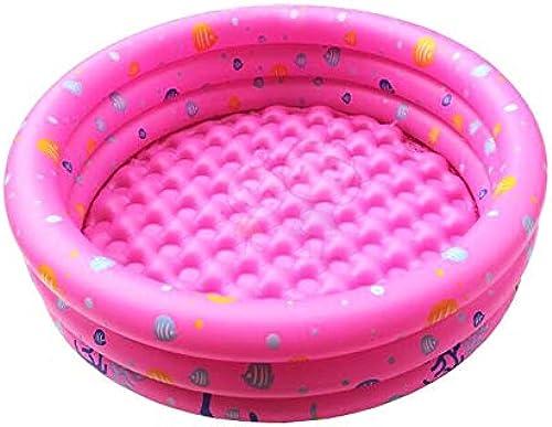 Aufblasbarer Pool, Aufblasbarer Kinderpool, Aufblasbares Familienbabybad, Schwimmzentrum, Aufblasbarer Familienpool (Farbe   Rosa, Größe   L)
