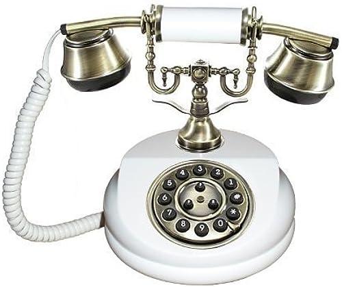 Antikes Telefon 1913 WeißS Handarbeit Holz + Messing