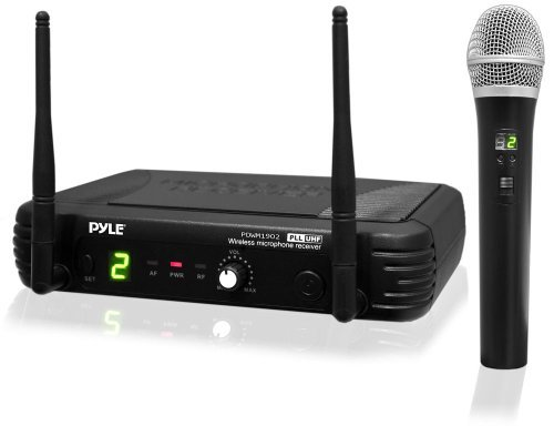 Portable, PylePro PDWM1902 Premier Series Professional UHF Wireless Handheld Microphone System with Selectable Frequencies Style: Handheld Mic Size: 1 Mic System Consumer Electronic Gadget Shop