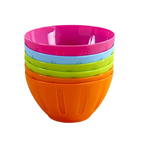 TOYANDONA 12 bols en plastique de bol de mélange coloré pour la salade de plats de fêtes