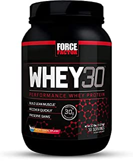 Force Factor WHEY30 Performance Whey Protein to Build Lean Muscle, Fruity Cereal, 48 Ounce