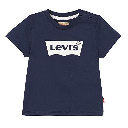 Levi s Kids Nn10124 Short Sleeve Tee-Shirt T, Blu (Dark Blue 48), 9-12 Mesi (Taglia Produttore: 12M) Bimbo