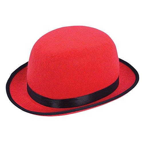 Bristol Novelty BH637 Chapeau Bowler Unisexe Adulte Rouge Taille unique