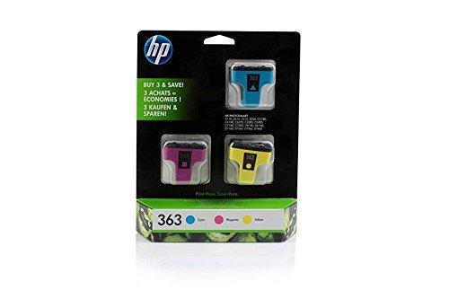 Original HP CB333EE / 363, für PhotoSmart D 7400 Series 3X Premium Drucker-Patrone, Cyan, Magenta, Gelb, 1270 Seiten, 13,5 ml