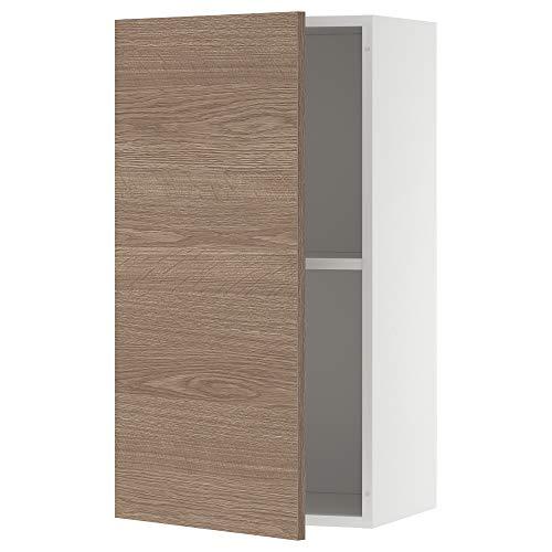 KNOXHULT armario de pared con puerta 40x31x75 cm efecto madera/gris
