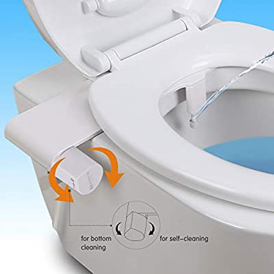 MARNUR Bidet Toilet Attachment Non-Electric with Fresh Water Spay Adjustment for Sanitary, Feminine Wash and Self-Cleaning Nozzle Available