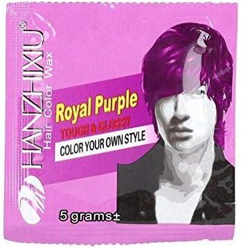 Simlug 【𝐕𝐞𝐧𝐭𝐚 𝐑𝐞𝐠𝐚𝐥𝐨 𝐏𝐫𝐢𝐦𝐚𝒗𝐞𝐫𝐚】 Color de Pelo Cera Peinado Temporal desechable instantáneo Tinte Barro para Fiesta Cosplay Halloween(Púrpura)