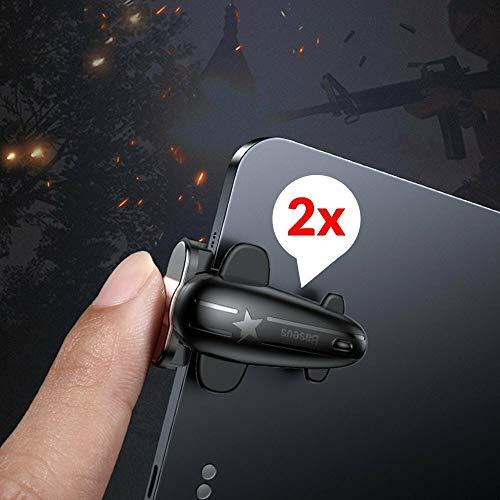 Baseus Gamepad Spiel Controller Zielauslöser Extra Schaltfläche Bumper kompatibel mit Tablet iPad für Spieler Gamer Zocker in Schwarz