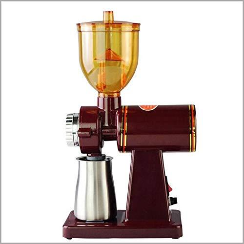 JYKJ Elektrische koffiemolen, koffiemolen, koffiemolen, roestvrij staal, springbescherming, vlak, wielgrinder, koffiemolen, elegant design, vakantiecadeau Rood