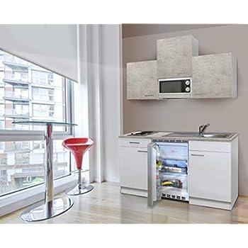 respekta - Cocina pequeña (180 cm, hormigón), Color Blanco: Amazon.es: Hogar
