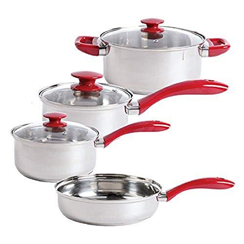 Sunbeam Crawford - Juego de utensilios de cocina (acero inoxidable, 7 piezas), color plateado