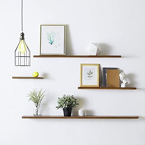 DGDF Estante flotante de madera de pino de 15 cm de ancho Kuroki Estante de madera de pino estante de la planta de exhibición de fotos Soporte de sala de estar/dormitorio/baño/cocina