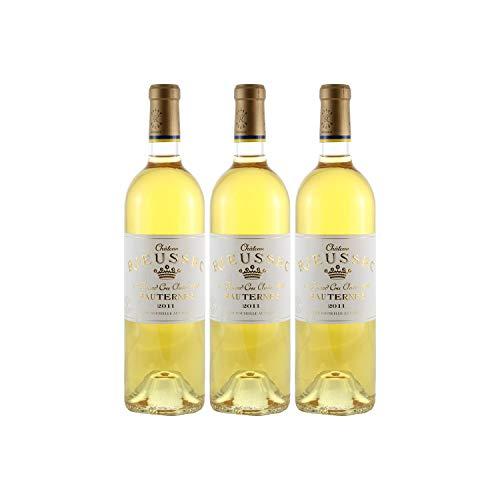 Château Rieussec Weißwein 2011 - g.U. Sauternes süßer - Bordeaux Frankreich - Rebsorte Sémillon, Sauvignon Blanc, Muscadelle - 3x75cl