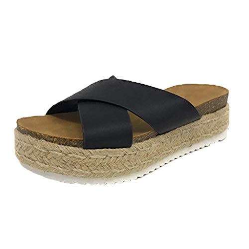 LIQIQI Zuecos Zapatillas Zapatos Mujer Tacones cuña