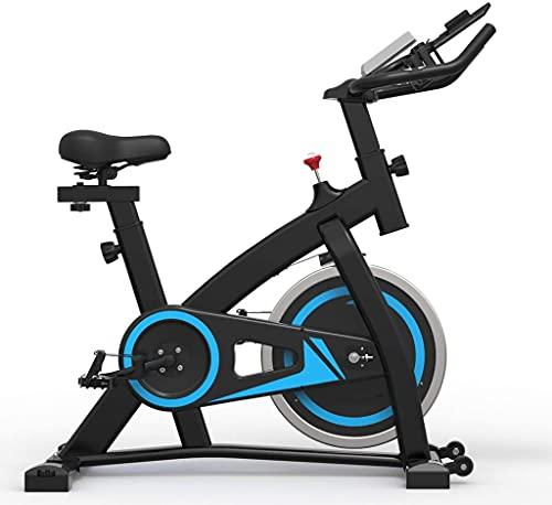 DMSA Bicicleta de Ejercicios, Bicicleta de Ciclismo Interior, Bicicleta de Entrenamiento para el Gimnasio de Cardio del hogar con Montaje en tabletas, Sensor de Pulso y Monitor LCD