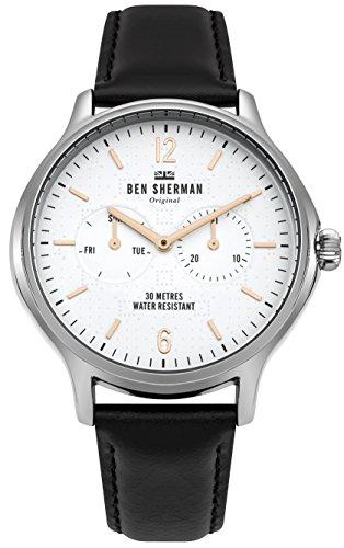 Ben Sherman Reloj Análogo clásico para Hombre de Cuarzo con Correa en Cuero WB017B