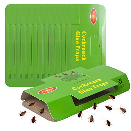 Stingmon 12Pack Cockroach Roach Killer Insect Glue Boards Trap for Bugs Indoor Home
