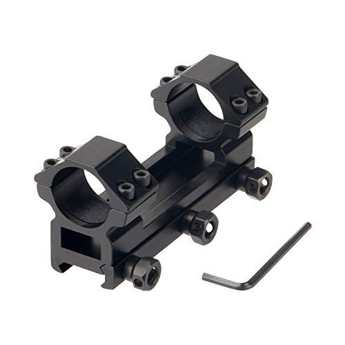 FOCUHUNTER Scope Anillo Adaptador 25.4mm Airsoft Gun Scope Barril de Montaje 20mm Weaver Tubo de Montaje Picatinny Rail Riser para Riflescope Óptica