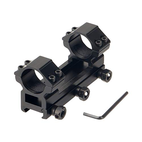 FOCUHUNTER Montagering für Zielfernrohre 25,4 mm Zielfernrohrring Ring Zielfernrohrmontage für 11mm Schiene Metall Weaver Picatinny Schiene jagdfernrohrhalterung