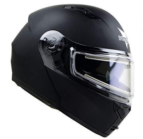 Advantage Modular Snowmobile Helmet w/Heated Shield & Sunshield Vega Helmets Matte Black 3XL