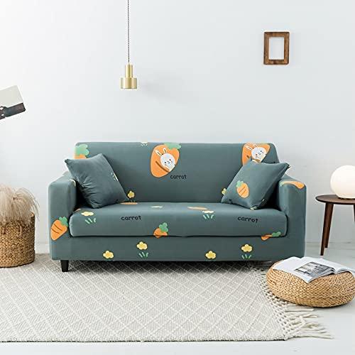 WXQY Sala de Estar Funda de sofá elástica con patrón geométrico Toalla de sofá combinación Antideslizante Funda de sofá Funda de sofá A7 1 Plaza