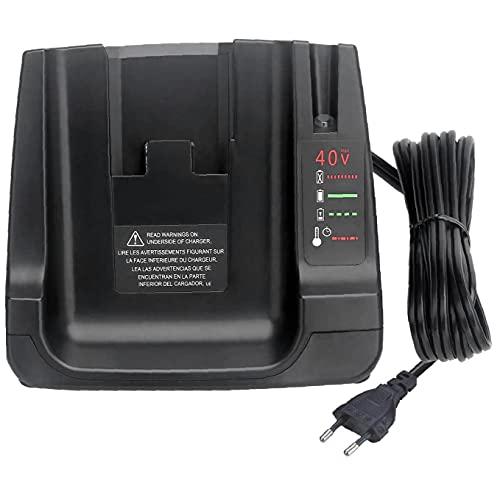 Cargador de batería de iones de litio 36V 40V Compatible con Decker Black Decker LCS36 LCS40 DUAL USB de reemplazo de carga rápida USB 1
