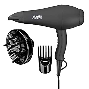 Beauty Shopping 1875W Professional Hair Dryer, 3 Minute Fast Drying Infrared Blow Dryer with Diffuser & Comb & Concentrator, Negative…