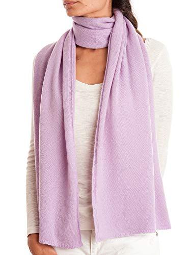 DALLE PIANE CASHMERE - Schal aus 100% Kaschmir - für Mann/Frau, Farbe: Flieder, Einheitsgröße