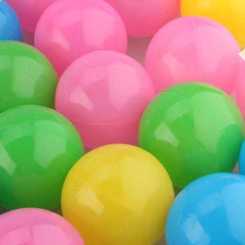 fitTek 50 Palline Palle Colorate in Plastica 5,5cm Elastico Gioco Bambini [Giocattolo]