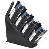GHqY Estante De Almacenamiento para Dispensador De Mangas para Vasos, 4 Compartimentos Dispensador De Vasos De Una Pieza para...