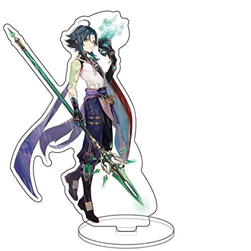 Pop Game Genshin Impact Xiao Acrilico Piedi Figura Bifacciale Trasparente Stand Miniatura Action Figure Desk Decorazione 15 cm
