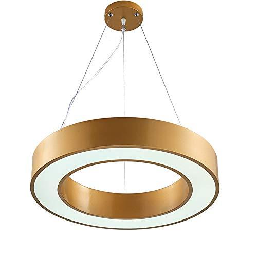Tesysyet Abrir Círculo Oficina Moderna Lámpara De Araña Restaurante Minimalista Lámpara De Moda 40cm De Diámetro Circular De Oro Nórdico