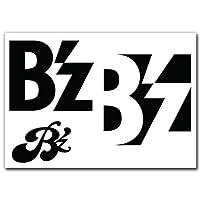 絵柄だけ残る ステッカー M 「B'z」 黒 047B
