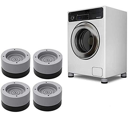 Haihui Pack de 4 almohadillas antivibración para lavadoras, almohadillas antideslizantes de goma antideslizantes, silenciosas, de amortiguación