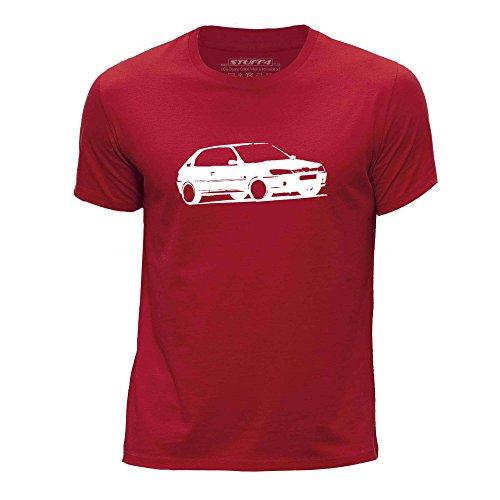 Stuff4 Chicos/Edad de 9-11 (134-146cm)/Rojo/Cuello Redondo de la Camiseta/Plantilla Coche Arte / 306 GTI-6