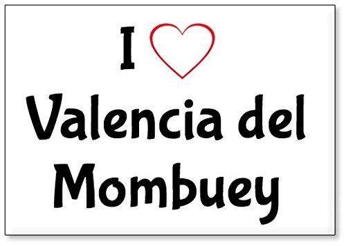 Mundus Souvenirs - Amo Valencia del Mombuey, Imán para Nevera (diseño 3)