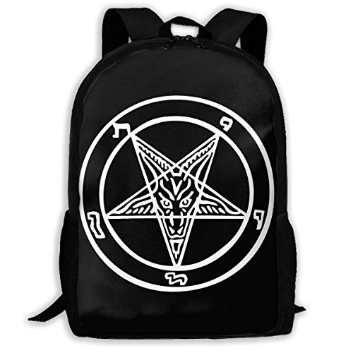 sghshsgh Rucksack für Hochschule,School Backpack The Official Symbol of The Church of Satan 3D Adult Outdoor Leisure Sports Backpack high School Computer Bag