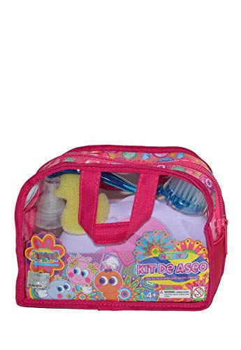 Distroller Neonate Nerlie Pink Bath Time Accessory Kit with Brush, Wipes, Ducky, Mirror, Comb, & Shark Perfume - Mexico KSI-Merito Exclusive