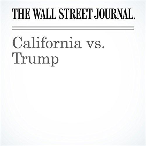 California vs. Trump copertina