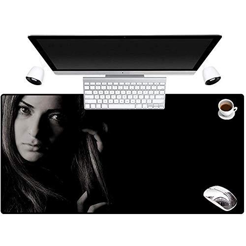 muismat mooi meisje zwart cool van toepassing op alle computers met behulp van een muismat om te voldoen aan al uw behoeften om uw bureaublad te versieren 40 * 90cm