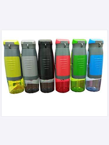 Sanczel& Steinfeld Sport Trinkflasche mit Fach| Wasserflasche 750ml ausTritan| Auslaufsichere Sportflasche für Outdoor, Fitness,Gym, Yoga, Wandern |FlascheBPA-frei | Water Bottle