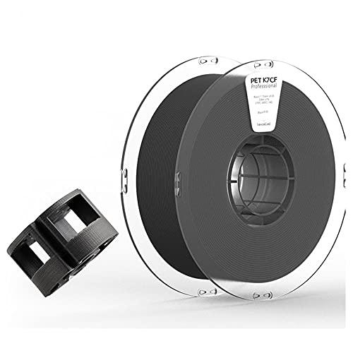 3D Printer Filament, PET-CF Filament, Carbon Fiber Reinforced Pet Material, High Hardness and Wear Resistance, 1.75mm, 1kg Spool, Black